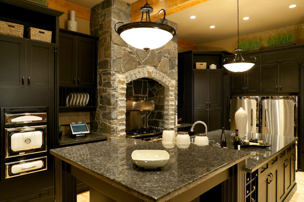 Granite Countertops Black Pearl Black Cabinets