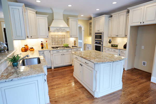 Granite Countertops Creame White Cabinets Salt Lake City, UT