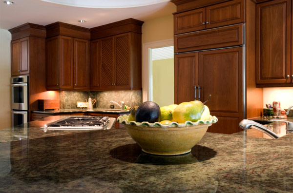 Granite Countertops Dark mahogany Cabinets Salt Lake City, UT