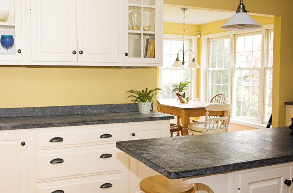 Soapstone Countertops White Cabinets Salt Lake City, UT