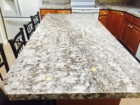 White Granite Marble look